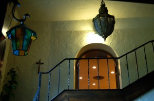 View from front hallway - upper door to chapel